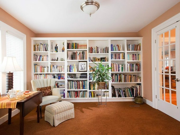 Bibliotecas librer as y maneras de aprovecharlas - Librerias salon modernas ...