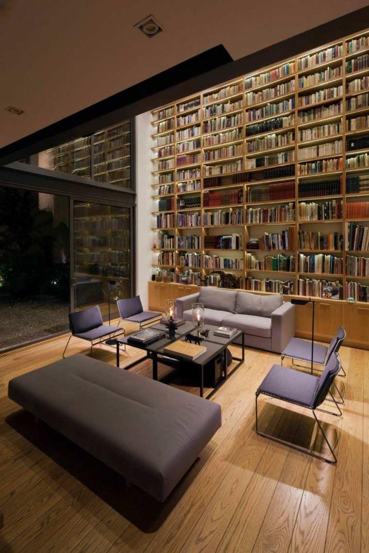 bibliotecas librerias disenos modernos casual ideas