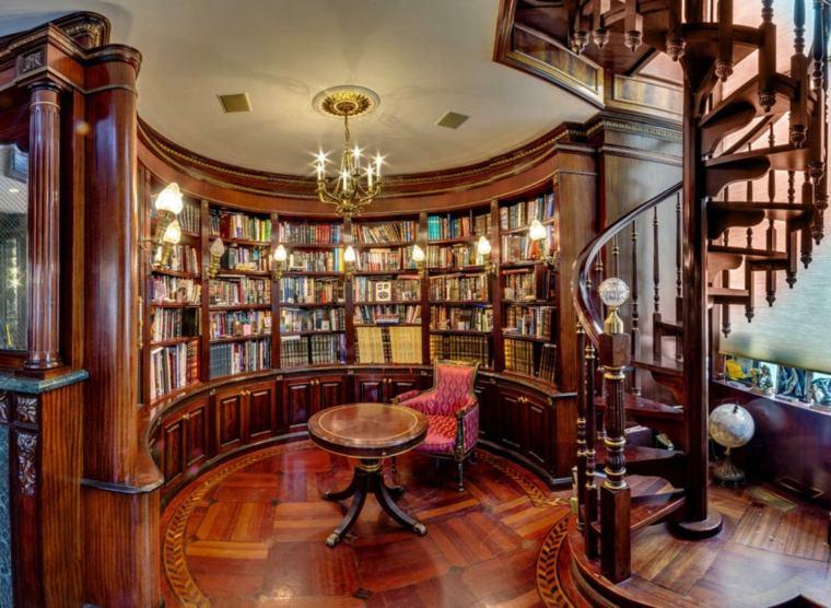 bibliotecas librerias disenos modernos forma circular ideas