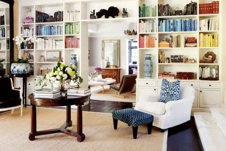 Bibliotecas librer as y maneras de aprovecharlas - Biblioteca madera blanca ...