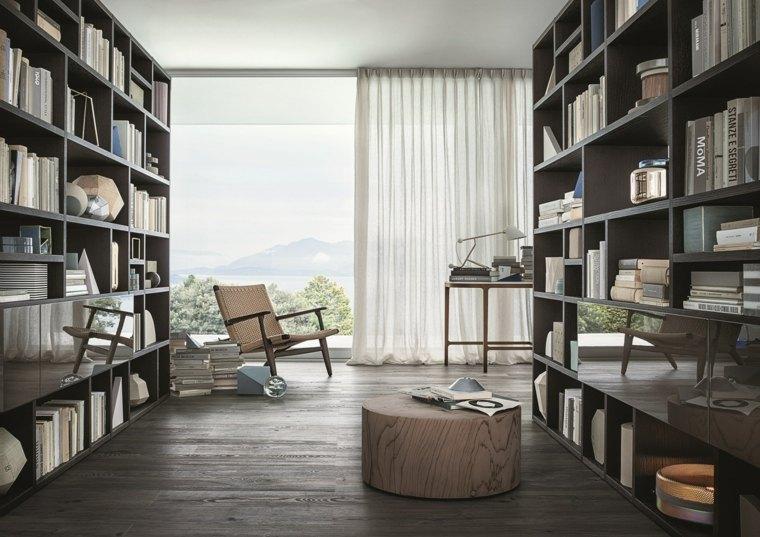 bibliotecas librerias disenos modernos separar ambientes salon ideas