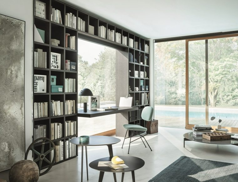 bibliotecas librerias disenos modernos ventana casa ideas