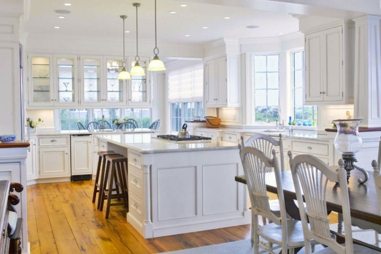bonita cocina grande color blanco
