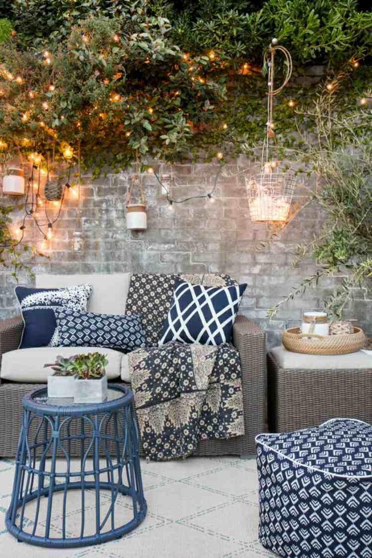 bonita decoración patio terraza