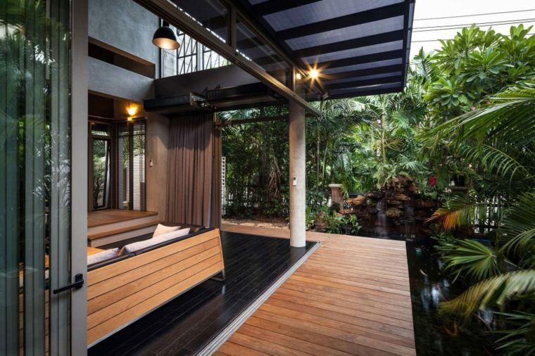 bonita terraza suelo madera