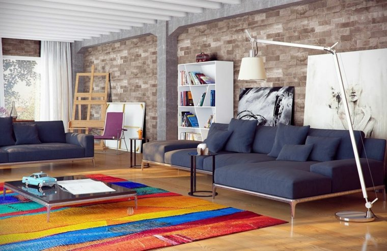 bonito diseno salon alfombra colores