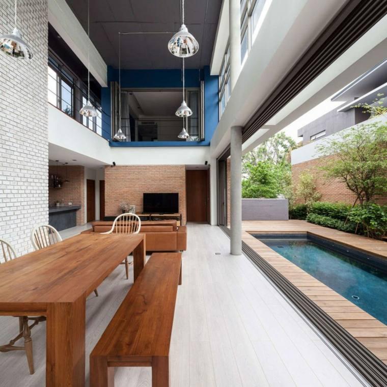 bonito salon diseno lujoso moderno