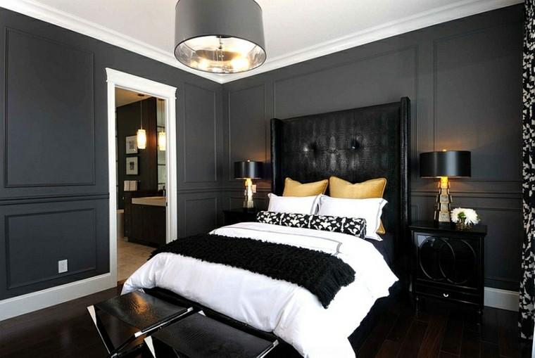 Color negro en el dormitorio ideas fant sticas de for Dormitorio para padres en blanco y negro