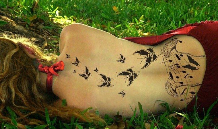 bonito diseño tatu mariposas