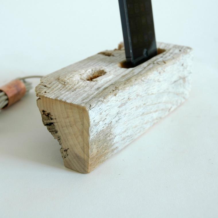 cargadores de moviles manualidades faciles madera ideas