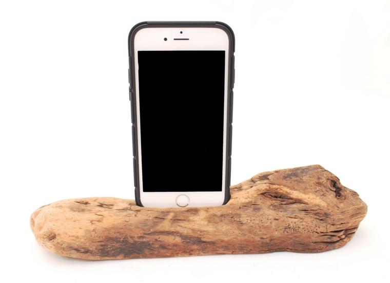 cargadores de moviles manualidades ideas madera ideas DIY