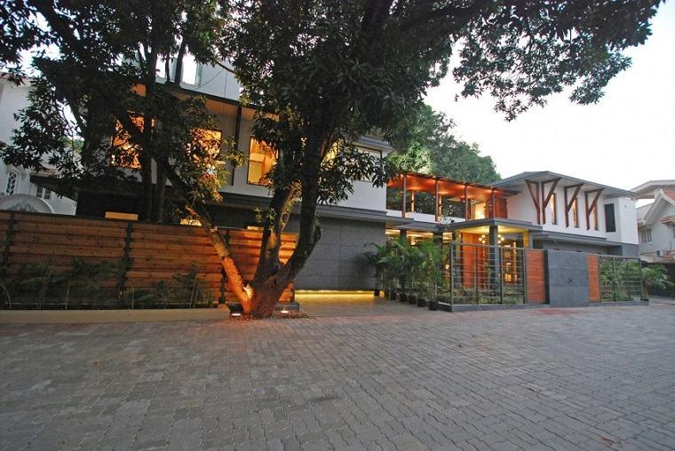 casa moderna entrada opciones diseno India ideas