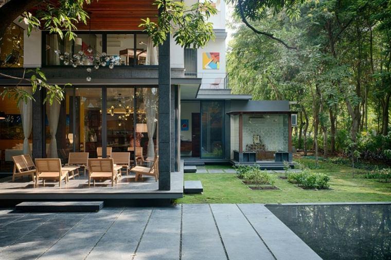 Casas de dise o una casa moderna en bhopal india - Casa de madera jardin ...