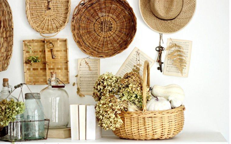Cestos de mimbre ideas para insertarlos en tu dise o - Objetos para decorar paredes ...