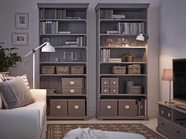 cestos de mimbre opciones insertarlas diseno habitacion muebles salon ideas