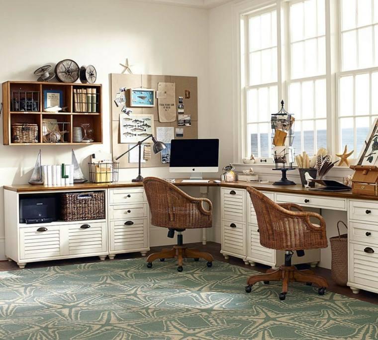 cestos mimbre opciones insertarlas diseno habitacion escritorio ideas