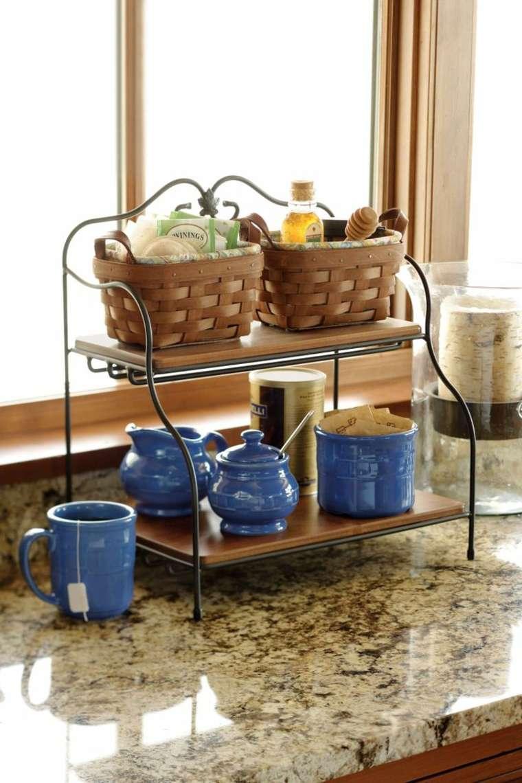 cestos mimbre opciones insertarlas diseno habitacion utencilios cocina ideas