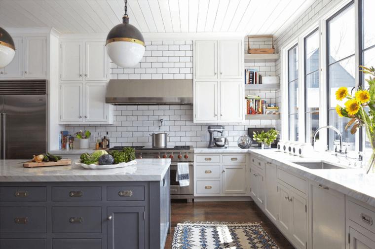 Cocina blanca 42 dise os de cocinas que te encantar n - Azulejos para cocinas blancas ...