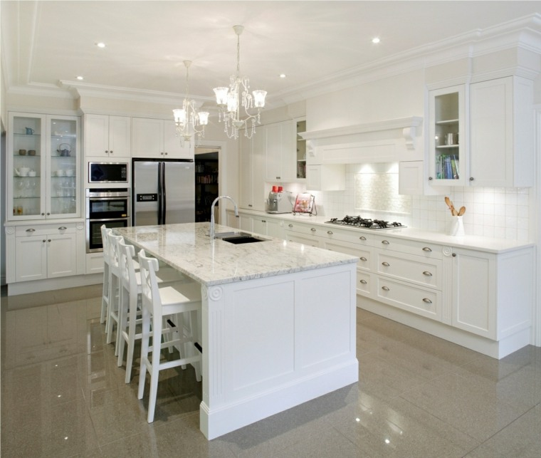 Muebles De Cocina En Color Blanco. Awesome Elegancia Y With Muebles ...