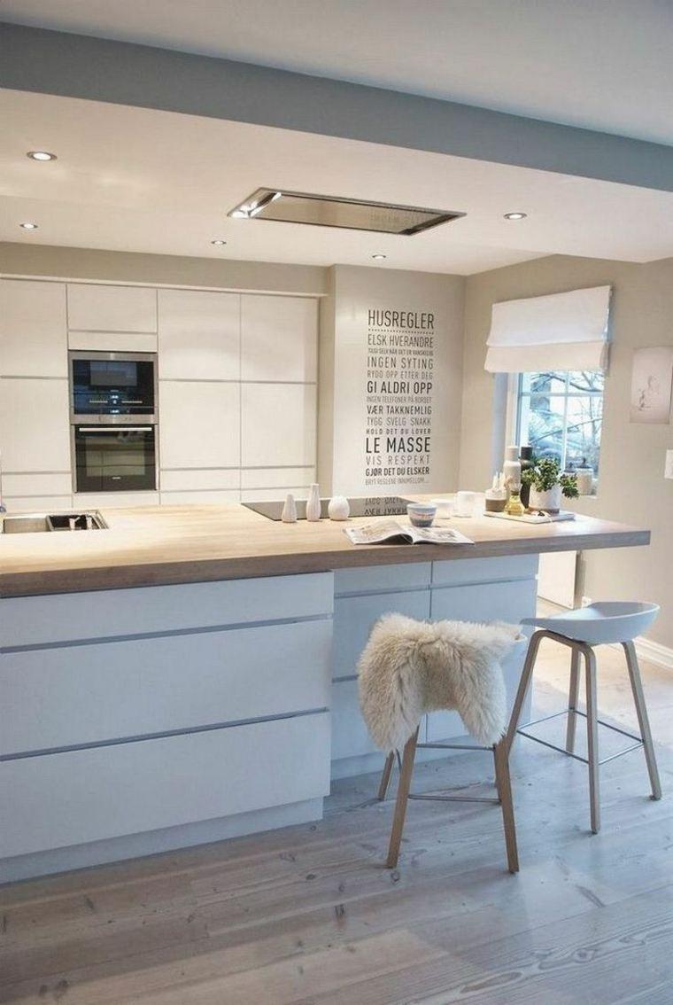 cocina creativa blanca diseno detalles encimera madera ideas
