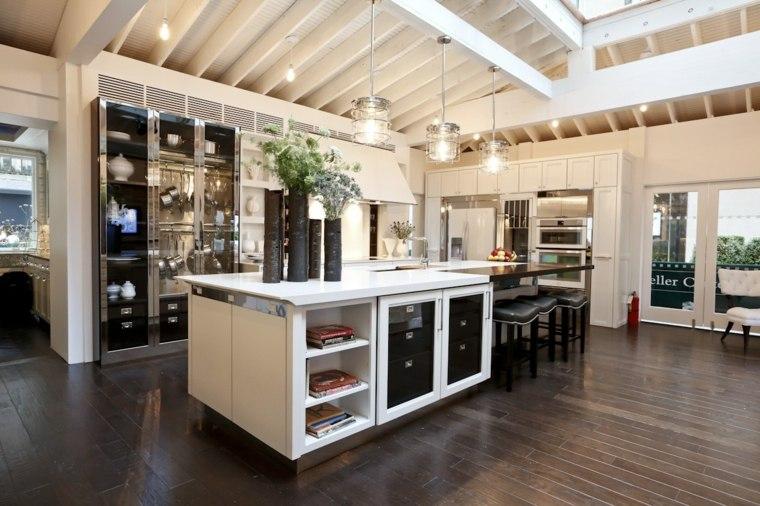 cocina creativa blanca diseno detalles jarrones preciosos ideas