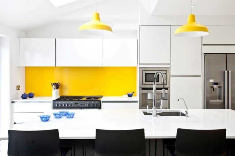 cocina creativa diseno detalles amarillo pared ideas