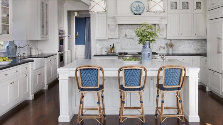 cocina creativa diseno detalles sillas color azul ideas