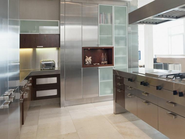 Muebles de cocina modernos colecciones temporada 2016 - Muebles de cocina de acero inoxidable ...