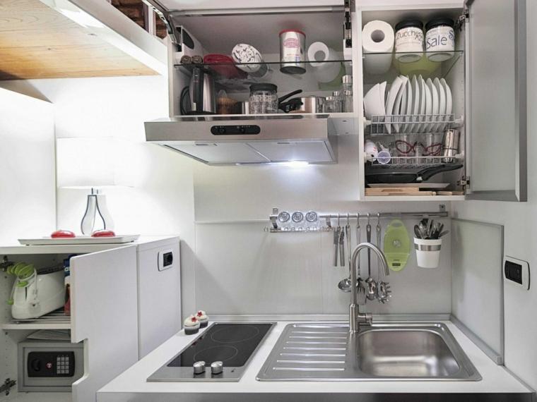 cocina pequeña muebles modernos funcionales