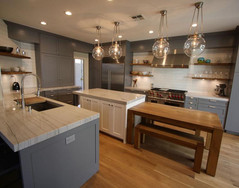 Dise ar cocinas consejos para un lograr interior espectacular - Isla de cocina con mesa ...
