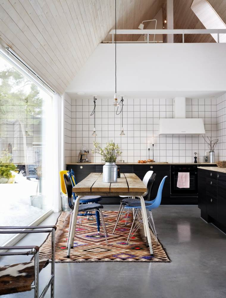 cocinas lujosa blanca moderna diseno alfombra vintage ideas