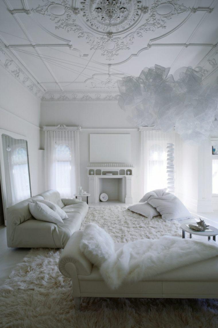 colores neutrales salon moderno blanco ideas