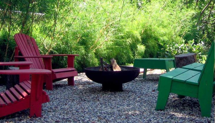 coloridos entornos patios muestras figuras
