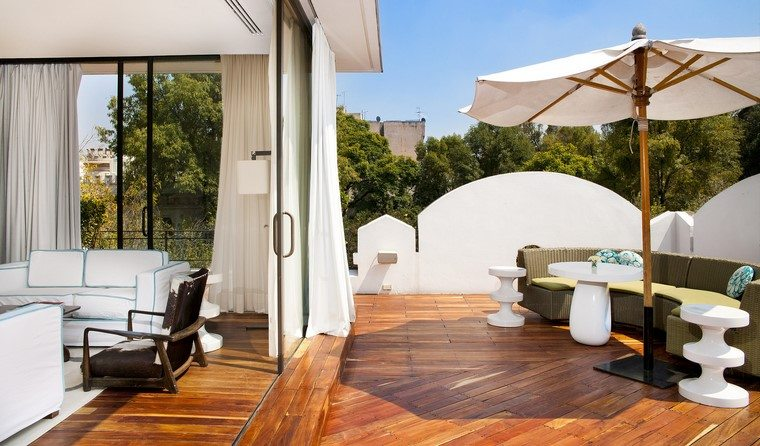 como decorar mi terraza muebles blancos ideas