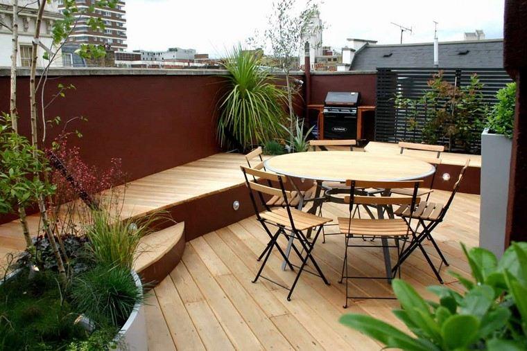 como decorar mi terraza muebles madera ideas