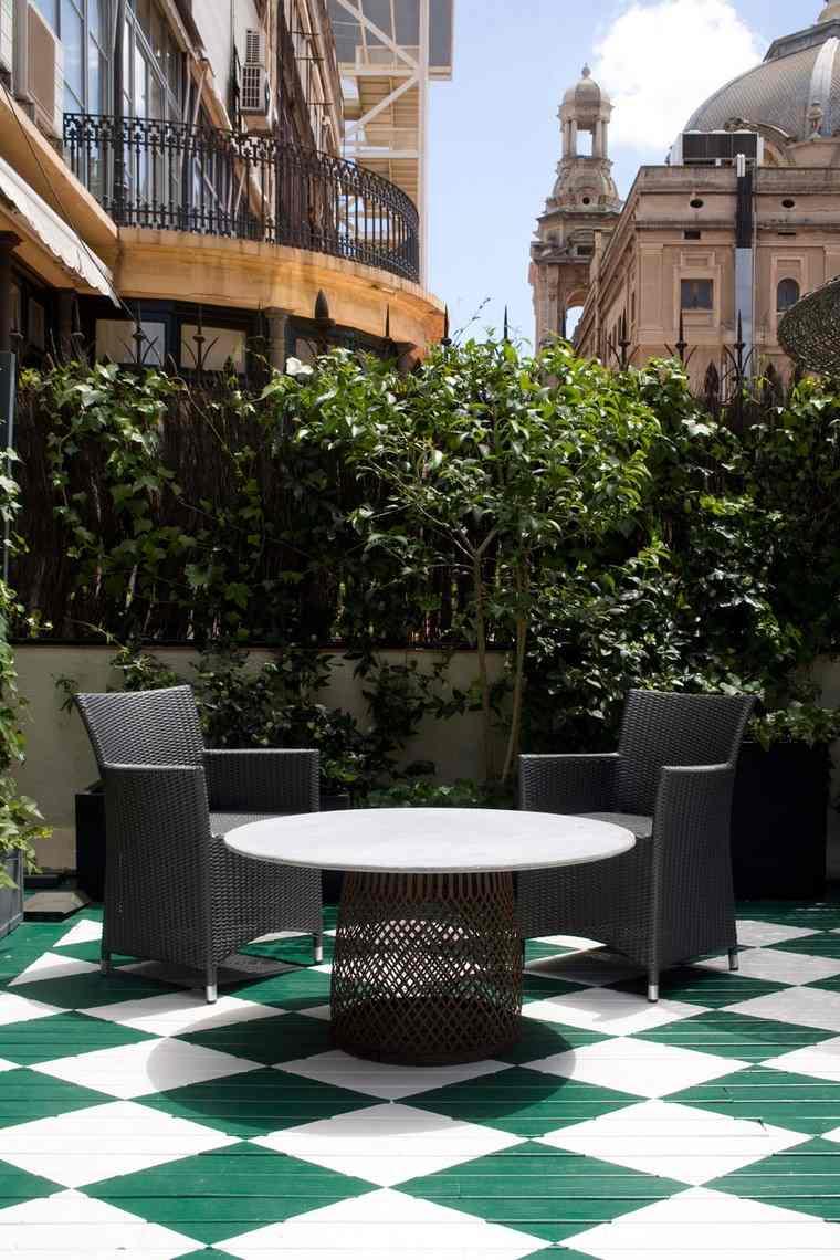 como decorar mi terraza opciones suelo madera colorido ideas