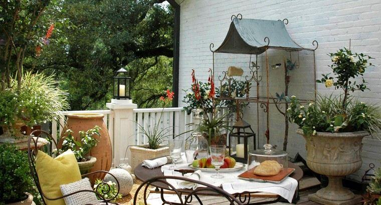 como decorar mi terraza pajaros jaula grande ideas