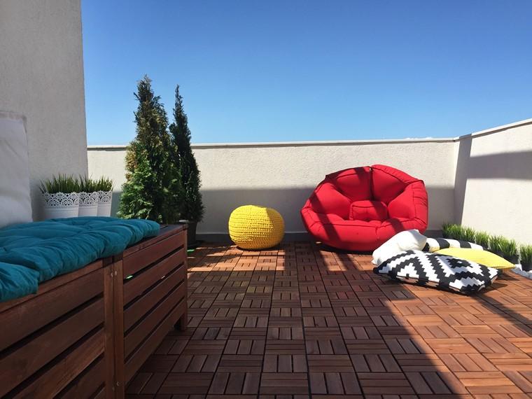 como decorar mi terraza suelo madera precioso ideas