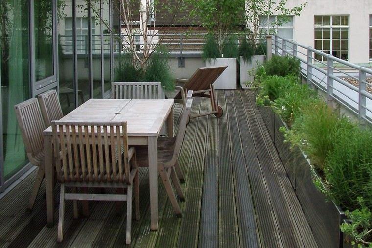 como decorar terraza pequena plantas mesa sillas comedor ideas