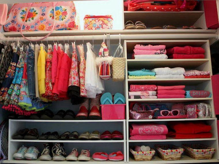 como organizar armario infantil colores - Como Organizar Un Armario