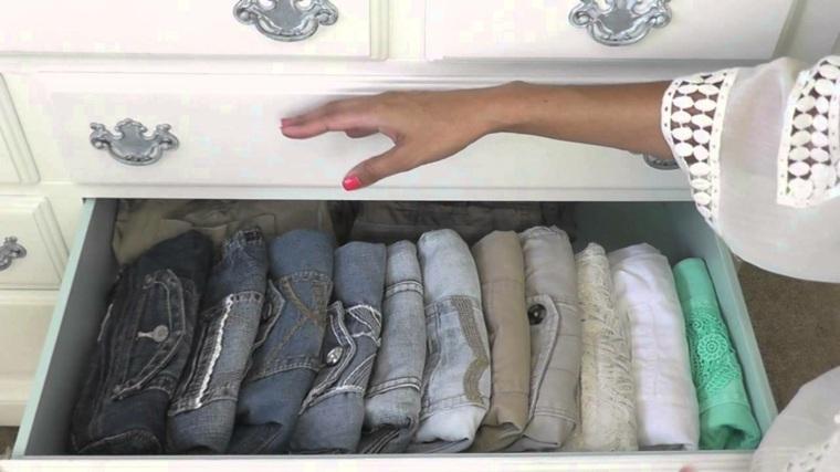 como organizar un armario doblar