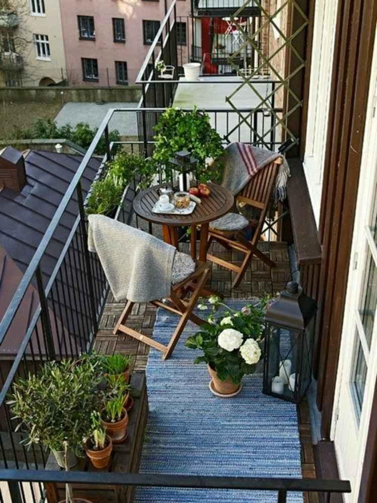 conjunto muebles sencillons terraza madera