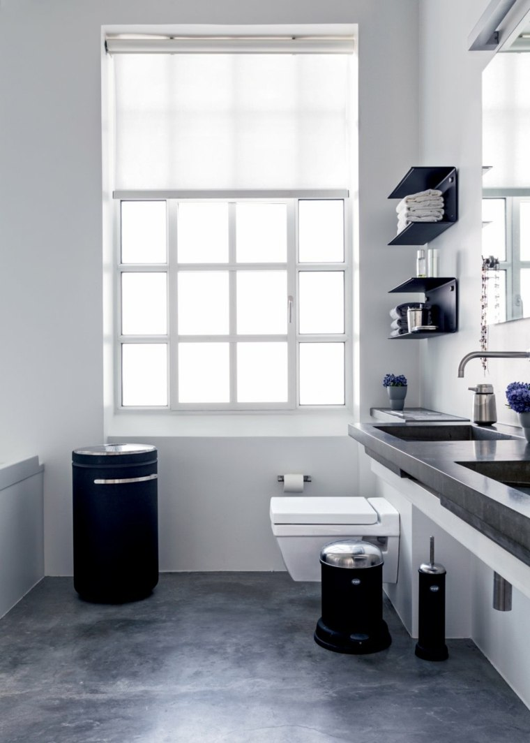Water Cuarto De Baño:cuartos bano pequenos disenos blanco negro ideas