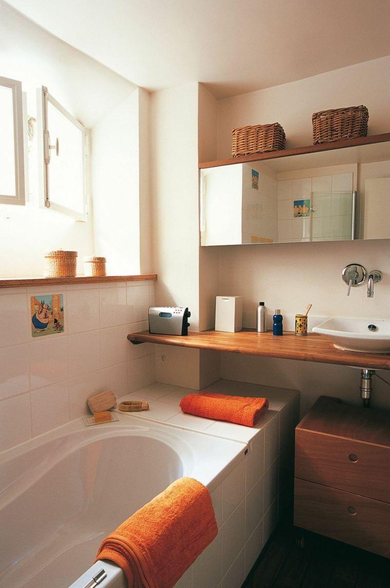 Cuartos de ba o peque os con dise os sensacionales for Salle de bain 7m2 avec baignoire