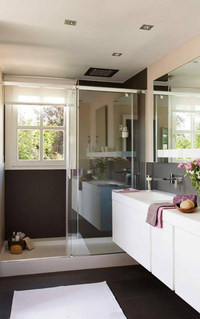 cuartos bano pequenos disenos lavabo blanco ideas