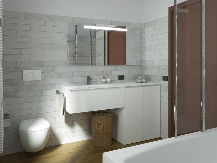 Ba os pequenos estilo vintage - Diseno de cuartos de bano pequenos ...