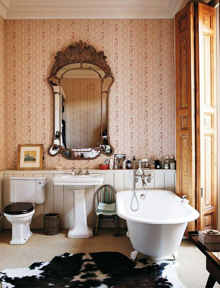 Baño Pequeno Vintage:cuartos de bano pequenos disenos pieles muebles retro ideas