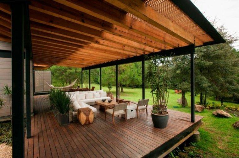 cubierta jardin ventilada madera