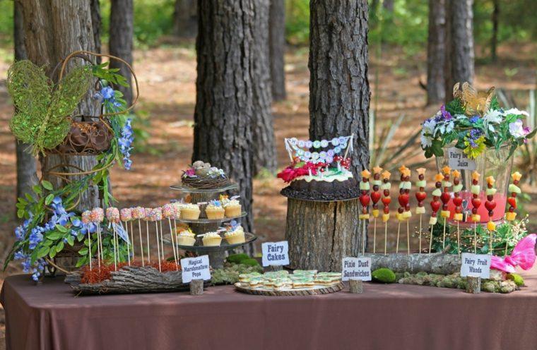 cumpleanos montana mesa decorada estilo bosque ideas