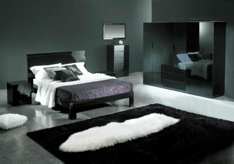 Color negro en el dormitorio ideas fant sticas de for Paredes focales